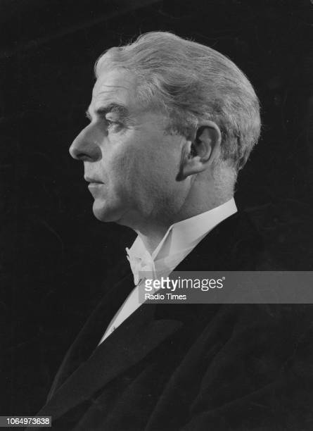 Portrait of actor Emlyn Williams photographed for Radio Times in connection with the BBC Sunday Night Play episode 'The Winslow Boy' August 1961