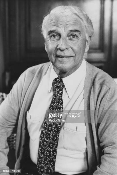 Portrait of actor Emlyn Williams photographed for Radio Times in connection with the BBC Saturday Night Theatre episode 'The Wind of Heaven'...