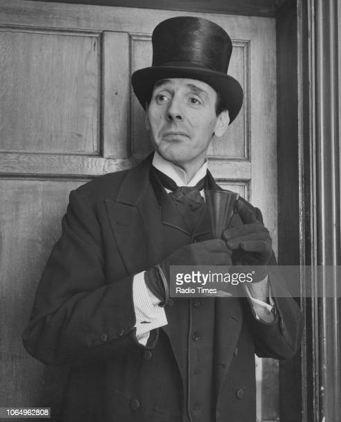 Portrait of actor Eric Sykes dressed as an undertaker November 24th 1961