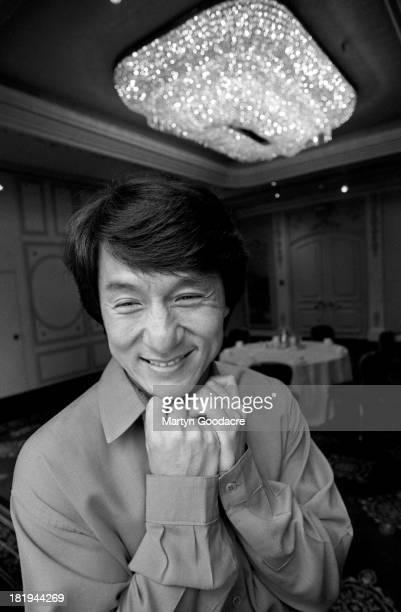 Portrait of actor Jackie Chan London 1997