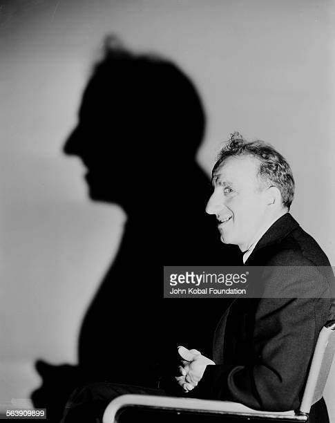 Portrait of actor Jimmy Durante with his shadow for MGM Studios June 28th 1933