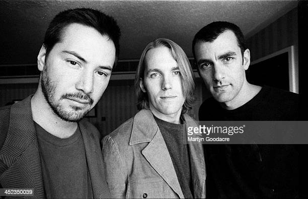Portrait of actor Keanu Reeves with his band Dogstar, Scotland , United Kingdom, 1996.