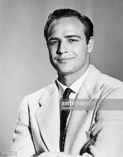 Portrait of actor Marlon Brando. Undated photograph.
