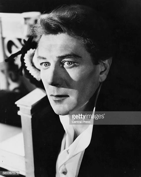 Portrait of actor Michael Redgrave as Hamlet as he appears at the Shakespeare Memorial Theatre in Stratford Upon Avon England June 3rd 1958