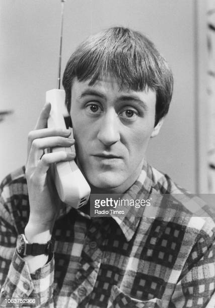 Portrait of actor Nicholas Lyndhurst photographed for Radio Times in connection with the television show 'Only Fools and Horses' January 29th 1989
