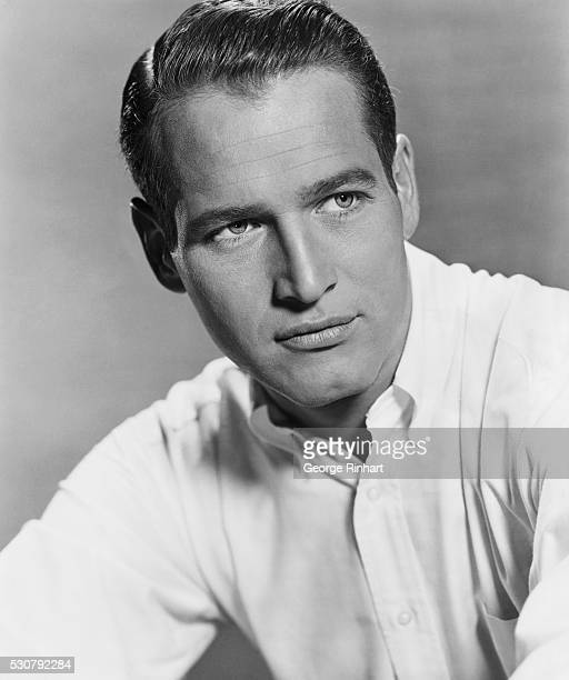 Portrait of Actor Paul Newman Wearing White Shirt