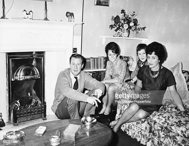 Portrait of actor Ronald Howard and his family wife Jean Millar and daughters Anne and Fenella with their son Steven away at boarding school in their...