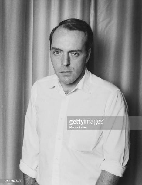 Portrait of actor Simon Cadell, photographed for Radio Times in connection with the BBC Radio 4 play 'Pygmalion', 1986.