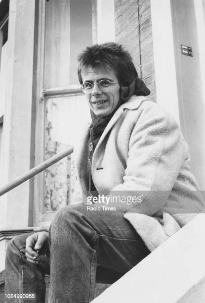 Portrait of actor Tom Watt on the set of the television soap opera 'EastEnders' November 24th 1984