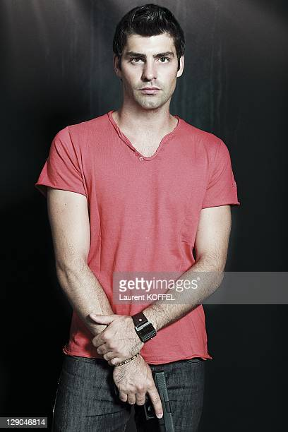 A portrait of actor Travis Milne of the Canadian police drama television serie Rookie Blue on June 27 2011 in Paris France