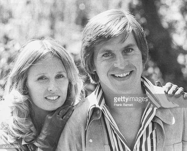 Portrait of actors Alan Price and Jill Townsend on the set of the film 'Alfie Darling' outdoors near Pinewood Studios London August 27th 1974