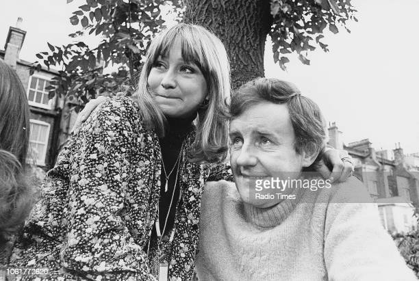 Portrait of actors Felicity Kendal and Richard Briers photographed for Radio Times in connection with the television sitcom 'The Good Life' December...