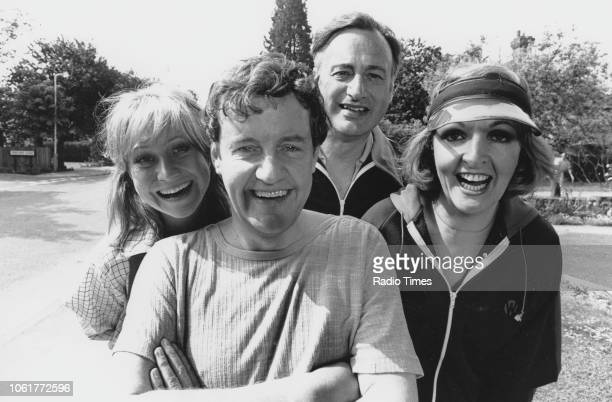 Portrait of actors Felicity Kendal Richard Briers Paul Eddington and Penelope Keith photographed for Radio Times in connection with the television...