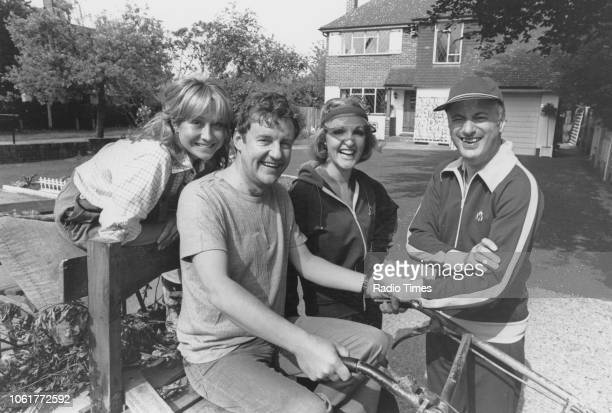 Portrait of actors Felicity Kendal Richard Briers Penelope Keith and Paul Eddington photographed for Radio Times in connection with the television...