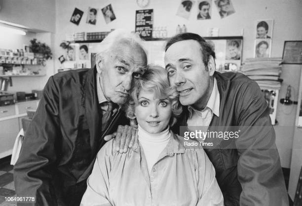 Portrait of actors John Laurie Deborah Watling and Victor Spinetti photographed for Radio Times in connection with the BBC Radio 2 comedy series...