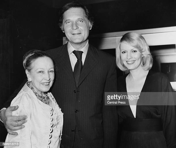 Portrait of actors John Vernon Bessie Love and Jean Seberg arriving at the opening of the London Film Festival at the National Film Theatre London...