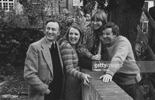 Portrait of actors Paul Eddington Penelope Keith Felicity Kendal and Richard Briers photographed for Radio Times in connection with the television...