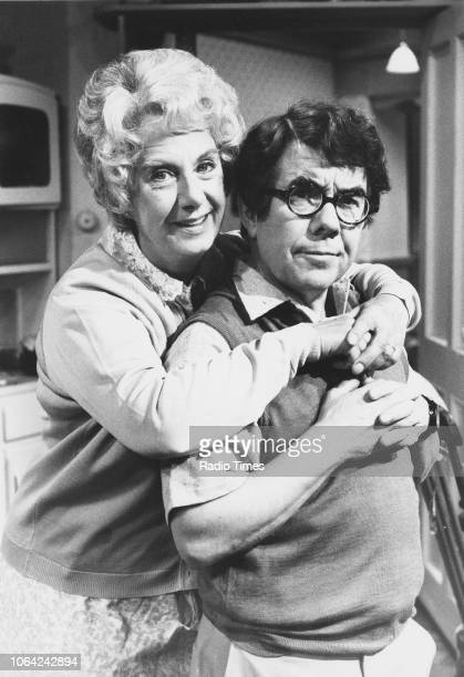 Portrait of actors Ronnie Corbett and Barbara Lott as they appear in the television sitcom 'Sorry!', October 9th 1982.
