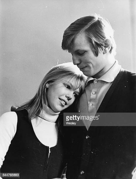 Portrait of actors Tessa Wyatt and Michael York, during rehearsals of the play 'Any Just Cause' at the Adeline Genes Theatre, East Grimstead,...