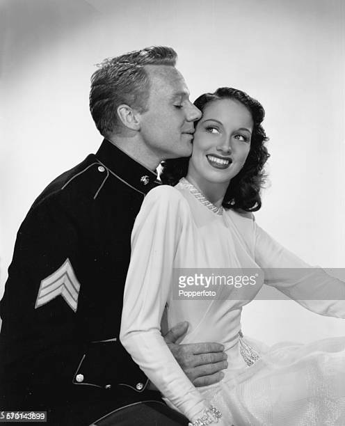 Portrait of actors Van Johnson and Pat Kirkwood as they appear in the film 'No Leave No Love' for MGM Studios 1946