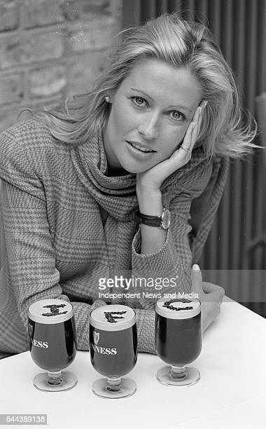 Portrait of actress Alison Doody at the press conference to announce Guinness' sponsorship of the Irish Film Centre circa April 1993