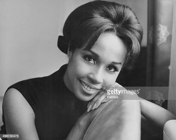 Portrait of actress and singer Diahann Carroll during a visit to London January 18th 1965