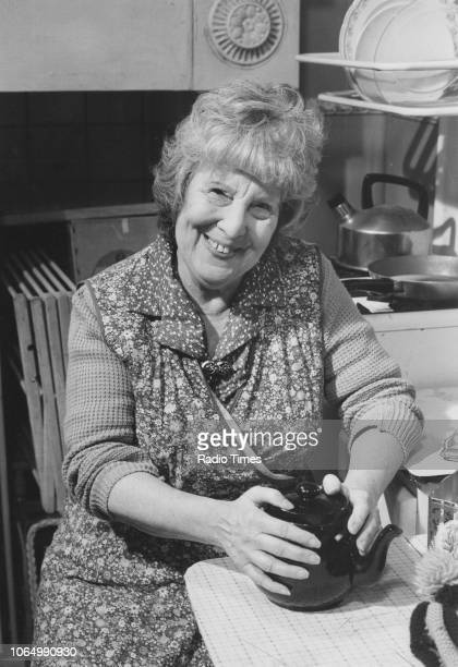 Portrait of actress Anna Wing on the set of the television soap opera 'EastEnders' October 4th 1985