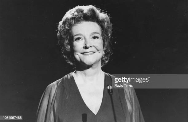 Portrait of actress Beryl Reid August 16th 1977