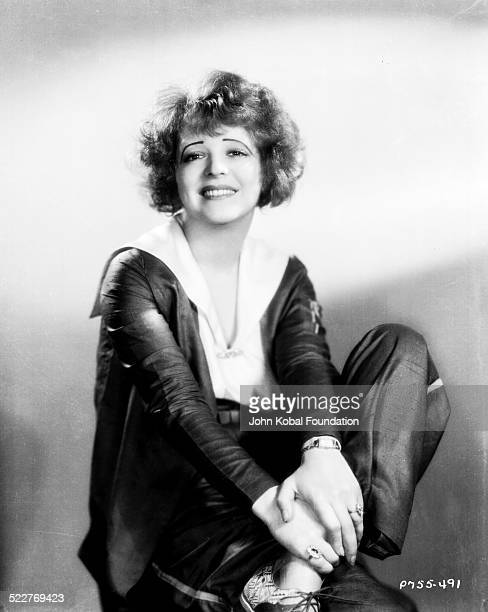 Portrait of actress Clara Bow wearing trouser suit for Paramount Pictures 1930