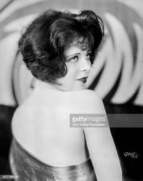 Portrait of actress Clara Bow with her back to camera for Paramount Pictures 1926