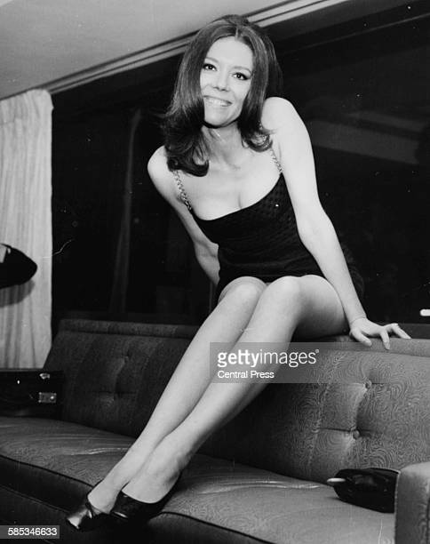 Portrait of actress Diana Rigg, star of the new film 'Assassination Bureau', at the Hilton Hotel, London, November 8th 1967.