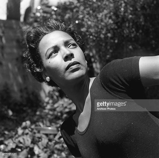Portrait of actress Dorothy Dandridge outdoors September 22nd 1963