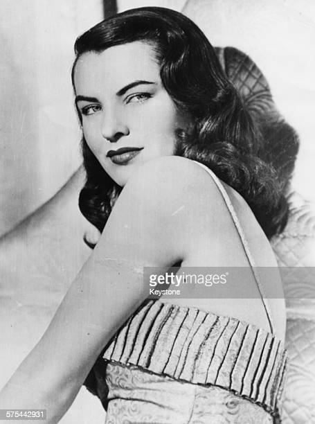 Portrait of actress Ella Raines with her back turned to the camera she recently starred in the film 'The Suspect' circa 1944