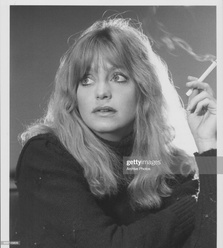 Portrait Of Actress Goldie Hawn Smoking A Cigarette 1980 News