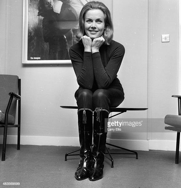 Portrait of actress Honor Blackman following her being cast in the new James Bond film 8th January 1964