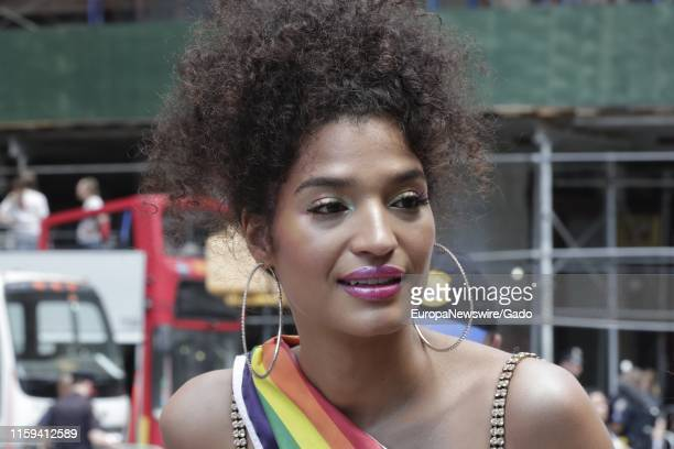 Portrait of actress Indya Moore during the 2019 Pride Parade in New York City New York June 30 2019