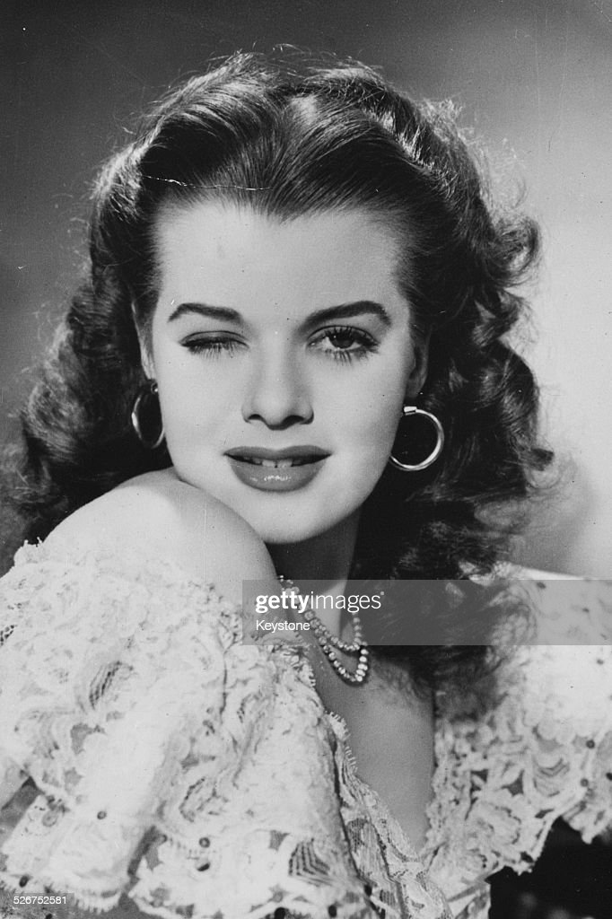 c11d44fec230e Portrait of actress Janis Paige winking to the camera