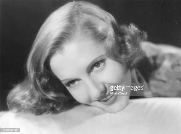 Portrait of actress Jean Arthur taken during World War II