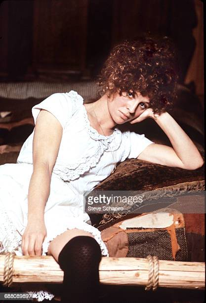 Portrait of actress Julie Christie on the set of the film 'McCabe Mrs Miller' British Columbia Canada 1971