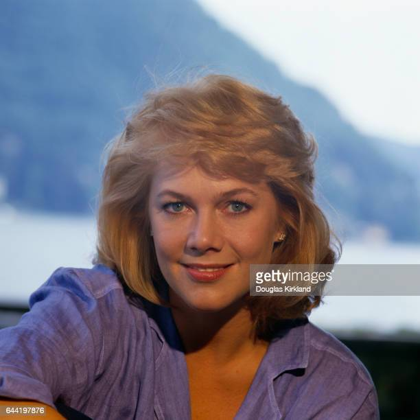 Portrait of actress Kathleen Turner taken while she was filming the 1988 film Julia and Julia.