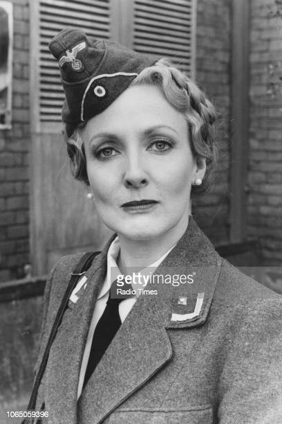 Portrait of actress Kim Hartman photographed for Radio Times in connection with the television sitcom ''Allo 'Allo' April 19th 1985
