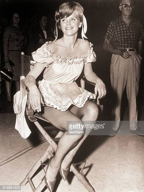 Portrait of actress Lee Remick in 1962 She is shown fulllength seated in a director's chair