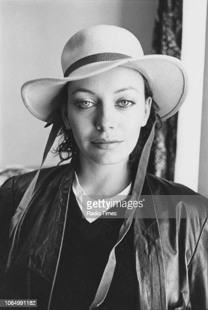 Portrait of actress Lesley Anne Down, October 1980.