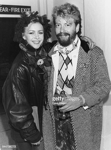 Portrait of actress Leslie Ash and musician Dave Stewart at an exhibition in London October 29th 1984
