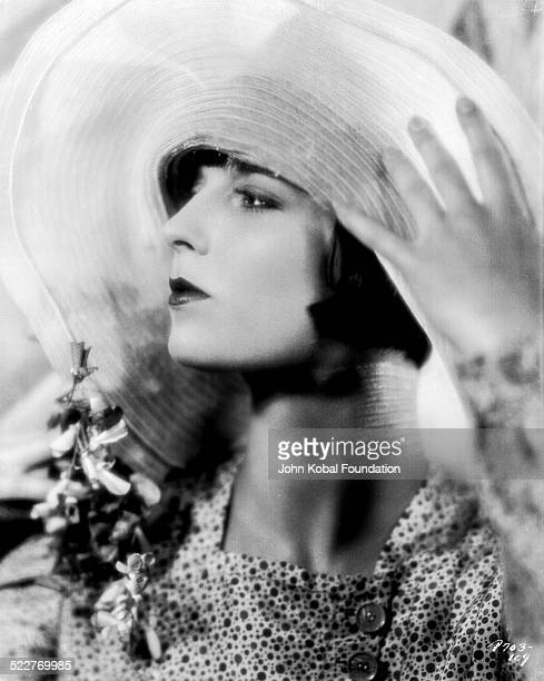 Portrait of actress Louise Brooks wearing a wide brimmed hat for Paramount Pictures 1927
