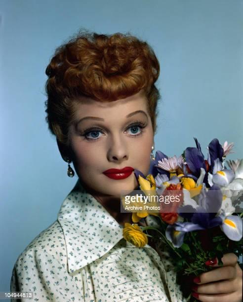 A portrait of actress Lucille Ball circa 1950's