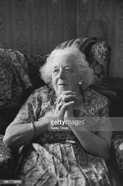 Portrait of actress Margaret Rutherford photographed for Radio Times in connection with the television special 'The Ealing Comedies' September 1970