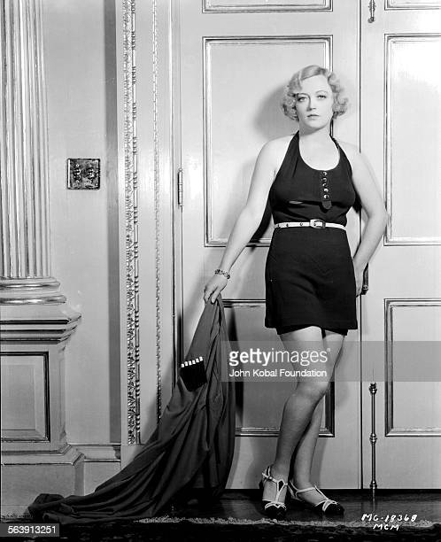 Portrait of actress Marion Davies wearing a minidress for MGM Studios September 26th 1931