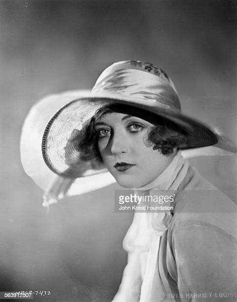 Portrait of actress Marion Davies wearing a widebrimmed hat for MGM Studios 1927