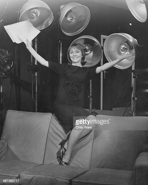 Portrait of actress Maureen O'Brien at BBC Studios following her new contract as a star of 'Dr Who' November 11th 1964